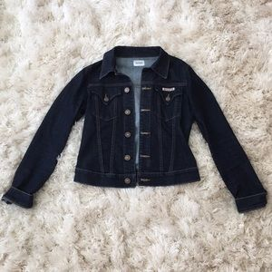 Hudson Cropped Signature Jean Jacket Dark Wash 🖤
